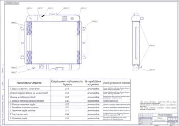 Ремонтный чертеж радиатора