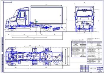Чертежи малотоннажного автомобиля ЗИЛ-5301 Бычок