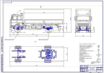 Чертежи автомобиля МАЗ-5340
