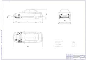 Чертеж автомобиля ВАЗ-2110