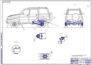 Чертеж автомобиля внедорожника УАЗ-3163 (Патриот)