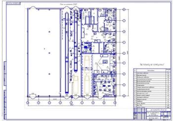 Чертежи реконструкции производственного корпуса