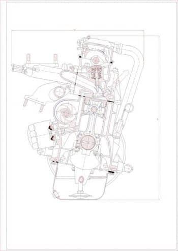 Чертежи двигателя ВАЗ-2108 выполнена деталировка