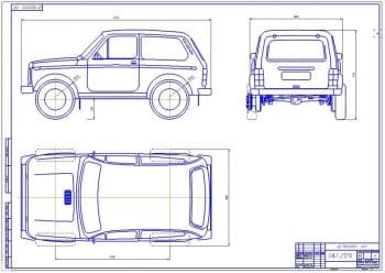 Чертеж автомобиля ВАЗ-21214