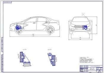Чертеж автомобиля LADA Vesta