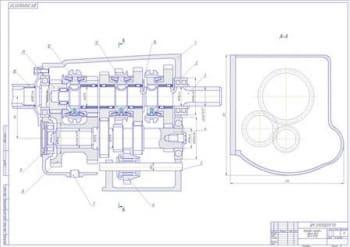 Чертеж коробки передач автомобиля УАЗ-31512