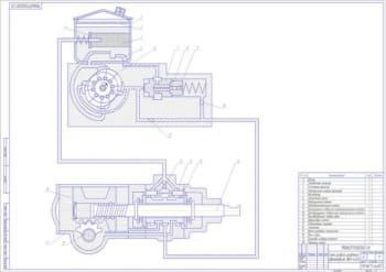 1.Схема рулевого управления грузового среднетоннажного автомобиля ЗИЛ-4333 (формат А1)