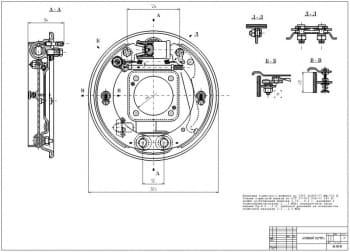 Чертежи тормозного барабана автомобиля ГАЗ-2410