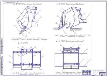 Чертеж обзора бульдозерного оборудования