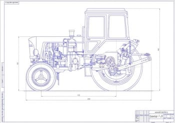 Чертеж трактора Т-25
