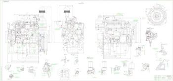 Чертежи дизельного двигателя Д-246.1