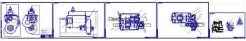 Сборочные чертеж двухвальной механической грузового автомобиля Урал-4320