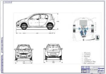 Чертежи клиноременного вариатора легкового автомобиля особо малого класса Smart
