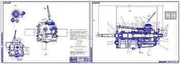 1.Сборочные чертежи коробки переключения передач (КПП) легкового автомобиля ВАЗ-2121 Нива (формат 2хА1)