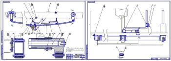 Чертежи подвесок грузового автомобиля ГАЗ-322132