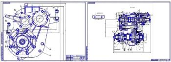 1.Сборочные чертежи раздаточной коробки грузового автомобиля Урал-55571-30 (формат 2хА1)