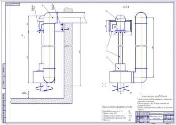 1.Сборочный чертеж фекального насоса для фермы (формат А1)