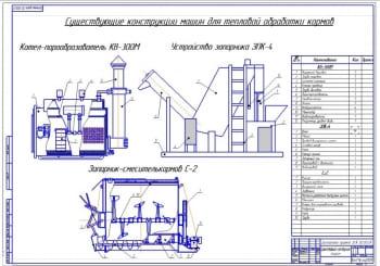 Существующие конструкции машин для тепловой обработки кормов