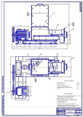 Конструкция измельчителя сочных кормов производительностью 1500 кг в час
