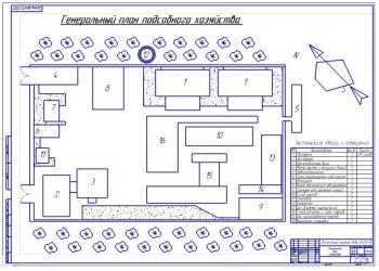 1.Генеральный план подсобного хозяйства (формат А1)