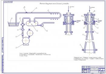 Конструктивные чертежи агрегата водокольцевого вакуум-насоса с эжектором ВВНПЭ-6/20