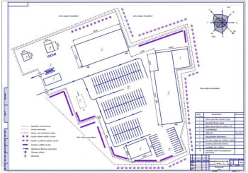 Генеральный план территории и производственный корпус АТП