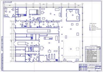 План ремонтной мастерской для выполнения ТО и ремонта машин
