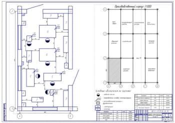 Планировка слесарно-механического отделения для ремонта автомобилей ГАЗ-66-11