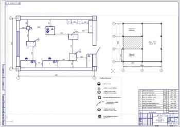 Планировка шиномонтажного отделения на 832 автомобиля ВАЗ-2109