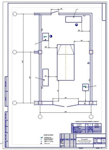 План участка диагностики систем зажигания