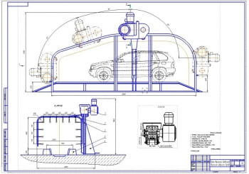 Конструкция мойки высокого давления портального типа для легковых автомобилей и микроавтобусов