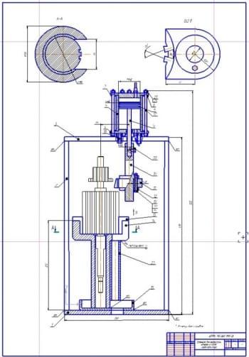 Конструкция установки для выпрессовки обмоток из пазов сердечника якоря стартеров