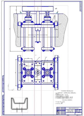 Гаражный подъемник канавного пневматического для легковых автомобилей с 3D-моделированием