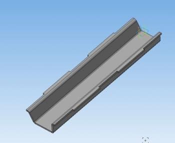 11. Модель пластины в 3D