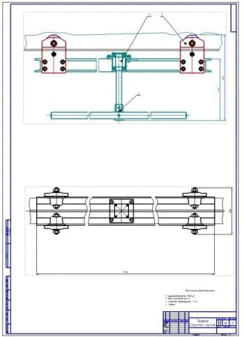 Конструкция тележки для транспортировки агрегатов автомобиля