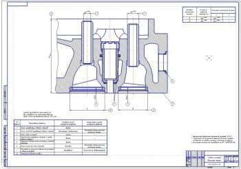 Ремонтный чертеж головки цилиндров с разработкой технологии восстановления