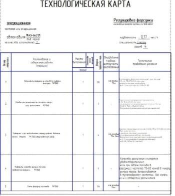 Операционная карта регулировки форсунки автомобиля МАЗ-64221