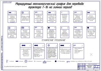 Маршрутный график перевода  трактора Т-16 на зимний период