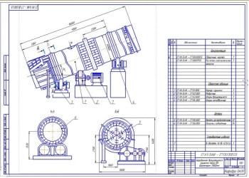 1.Общий вид сушилки барабанной вращающейся БН с рабочим диаметром 2800 мм (формат А2)