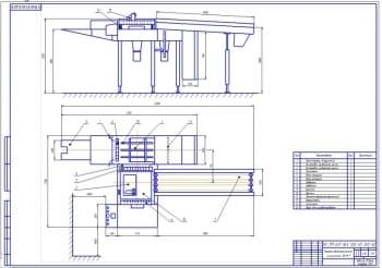 Конструкция резательной машины SB – 9/1 для резки вафельных пластов струнок