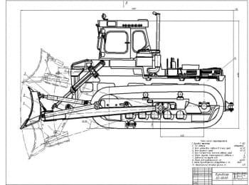 Гусеничный бульдозера модели ДЗ-60ХЛ на базе трактора Т-330  с поворотным отвалом
