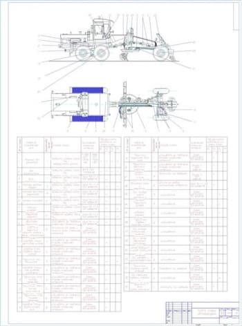 Разработка карты смазки автогрейдера ДЗ-143