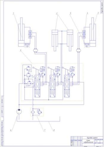 1.Гидравлическая схема рабочего оборудования бульдозера А1