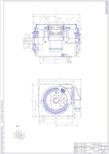 Асинхронный  двигатель 4АН180М4 на базе серии 4А