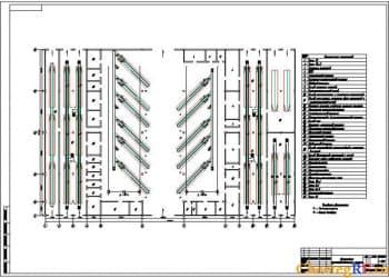 Архитектурно-строительный чертеж планировки производственного корпуса авторемонтного предприятия
