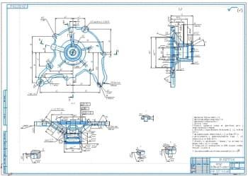 Ремонтный чертеж корпуса водяного насоса автомобиля ГАЗ-53
