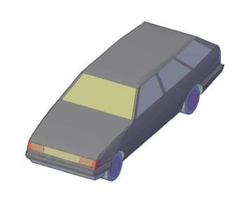 12.Общего вида чертеж автомобиля легкового C-MWAGON в 3D формате
