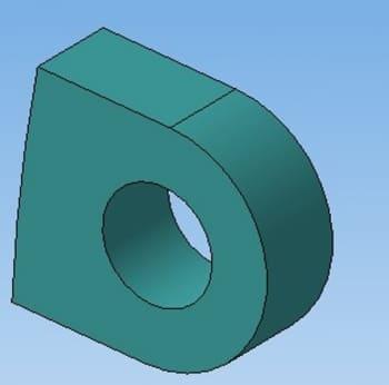 12.Модель планки в 3D