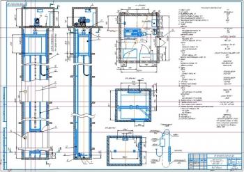 Проектирование пассажирского лифта ПП 1000 грузоподъемностью 1000 кг с прямой подвеской