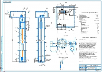 Проект устройства ограничителя скорости лифта пассажирского назначения